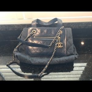 Chanel Quilt Blue Purse (two way)